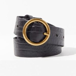 Black Belt with Circle Buckle